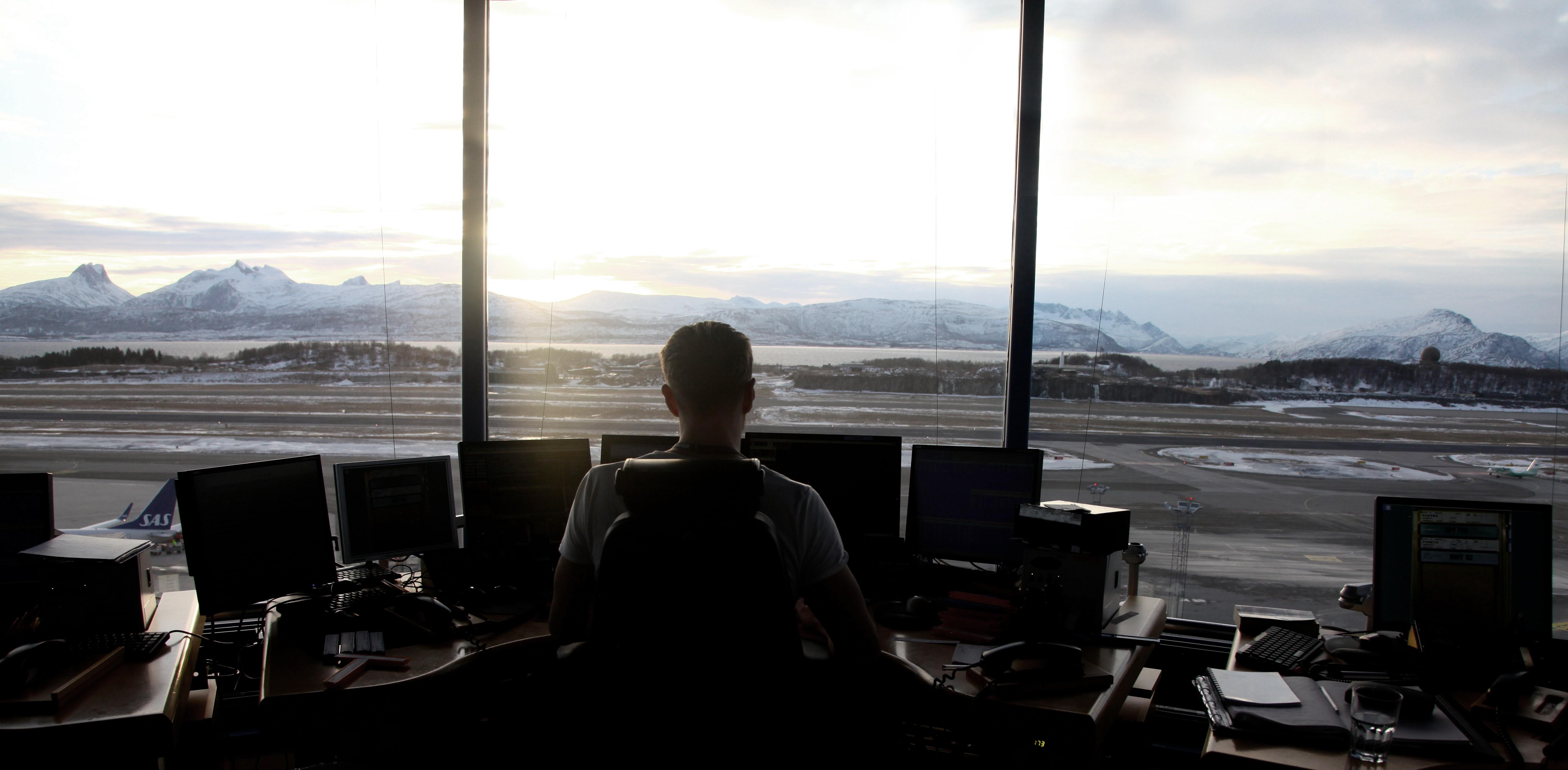 ENBO flygeleder i arbeidsposisjon utsikt